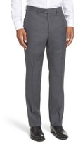 Santorelli Men's Romeo Regular Fit Flat Front Wool Trousers