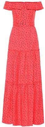 Rebecca Vallance Holliday linen-blend maxi dress