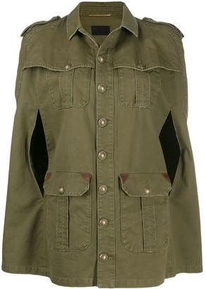 Saint Laurent Cape-Style Military Jacket