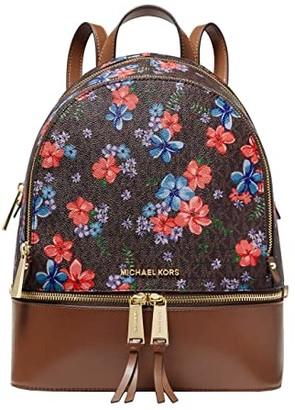 MICHAEL Michael Kors Rhea Zip Medium Backpack (Vanilla Multi) Backpack Bags