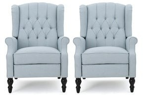 Christopher Knight Home Walter Tufted Fabric Recliner