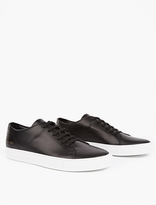 Common Projects Black Low Court Leather Sneakers
