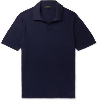 Ermenegildo Zegna Textured-Cotton Polo Shirt