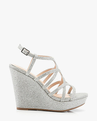 Le Château Open Toe Strappy Wedge Sandal