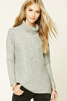 Forever 21 FOREVER 21+ Marled Knit Turtleneck Sweater