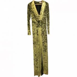 Galvan Green Velvet Dress for Women