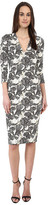 Just Cavalli 3/4 Sleeve V-Neck Printed Dress