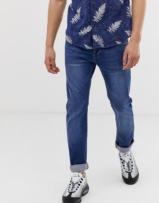 APT slim fit jeans in mid wash blue