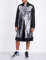 Comme des Garcons Checked-PVC wool coat