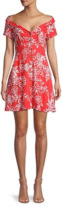 Free People A Thing Called Love Floral Fit-and-Flare Dress