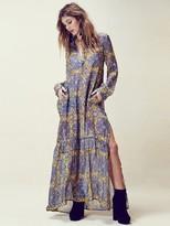 For Love & Lemons Geneva Maxi Dress in Gold Print