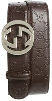 Gucci Men's Logo Embossed Leather Belt