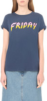 Wildfox Couture Heavy Metal Friday cotton-jersey t-shirt