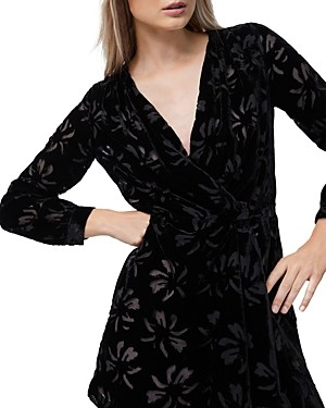 French Connection Abril Burnout Velvet Dress