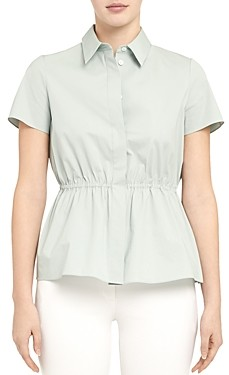 Theory Cinched Short-Sleeve Shirt