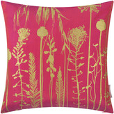 Clarissa Hulse Seed Heads Cushion - 45x45cm - Hot Pink/Antique Gold