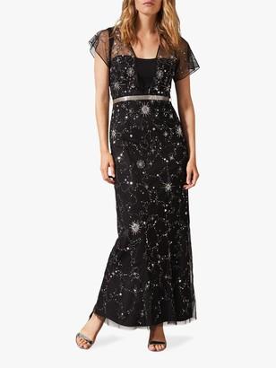 Phase Eight Anabella Beaded Maxi Dress, Black