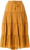 See by Chloe flared ruffled skirt