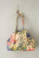 Anthropologie Watercolor Rose Tote