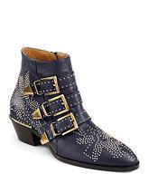 Chloé Susanna Studded Leather Buckle Ankle Boots