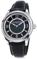 Frederique Constant Horological Swiss Quartz Leather Watch