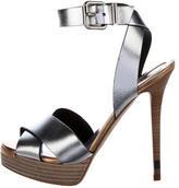 Fendi Metallic Platform Sandals