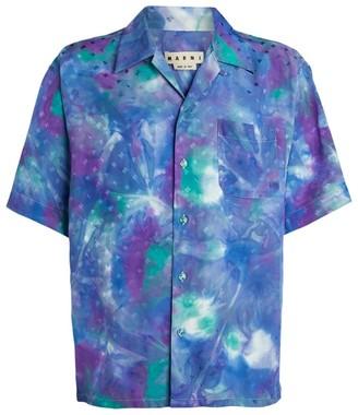Marni Tie-Dye All-Over Logo Casual Shirt