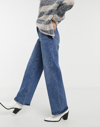 Object wide-legged jean in blue