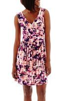 JCPenney A.N.A a.n.a Sleeveless Cross-Front Blouson Dress