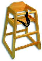 Adcraft HCW-1 Solid Hardwood High Chair, Set Up