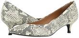 Vionic Josie (White/Black Snake) Women's 1-2 inch heel Shoes