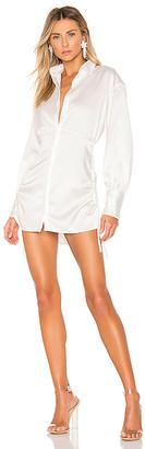 DANIELLE GUIZIO Ruched Shirt Dress