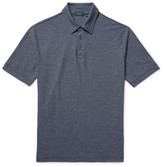 Incotex Striped Knitted Cotton Polo Shirt