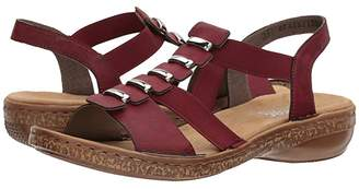 Rieker 62850 Regina 50 (Wine) Women's Shoes