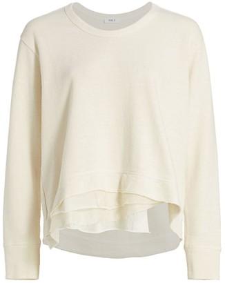 Wilt Mixed-Media Layered Hem Sweatshirt