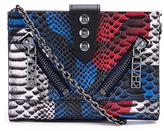Kenzo Women's Kalifornia Wallet on a Chain Crossbody Blue Snake