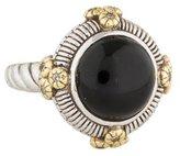 Judith Ripka Ambrosia Round Onyx & Diamond Cocktail Ring