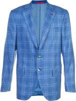 Isaia checked blazer - men - Silk/Linen/Flax/Cupro/Wool - 52