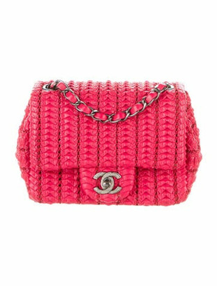 Chanel Small Crochet Lambskin Flap Bag w/ Tags Red