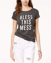 Hybrid Juniors' Bless This Mess Graphic T-Shirt