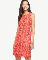 Ann Taylor Petite Two Tone Lace Sheath Dress