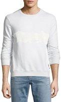 Sol Angeles Brushstroke Wave-Print Sweatshirt, Light Blue