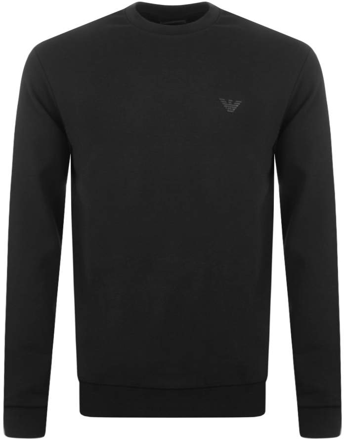 7712a7810e2 Mens Black Crew Neck Sweatshirt - ShopStyle UK