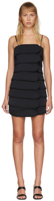 we11done Black Strap Short Dress