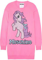 Moschino My Little Pony Intarsia Wool Mini Dress - Pink