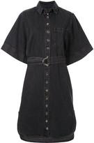 Aiva Belted Denim Dress