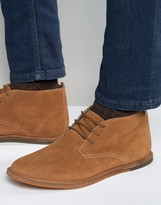 Frank Wright Strachan Chukka Boots Tan Suede