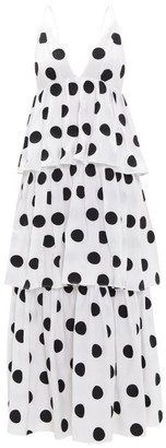 Mara Hoffman Bari Tiered Polka-dot Cotton-voile Dress - White Print