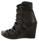 Ann Demeulemeester Leather Multistrap Wedges