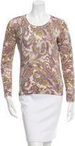 Loro Piana Cashmere Paisley Print Sweater